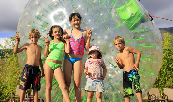 Children at the Maui Aquaball